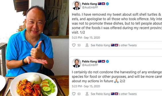 Büyükelçi nesli tükenmek üzere olan kaplumbağa yedi