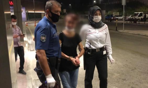 Refakatçinin kafasına silah doğrultan kadın gözaltında