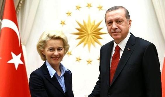 Erdoğan, AB Komisyonu Başkanı Leyen ile görüştü