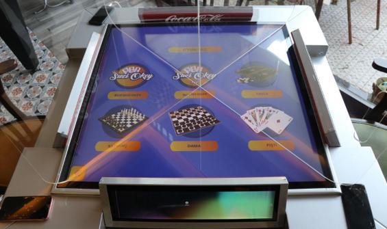 Koronavirüs önlemli dijital oyun masası üretildi