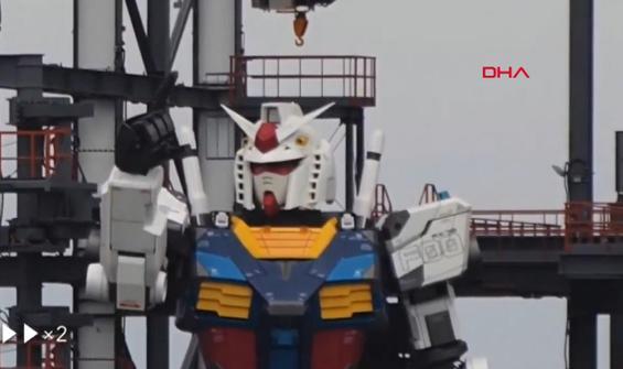 Dev Gundam robotu ilk adımını attı