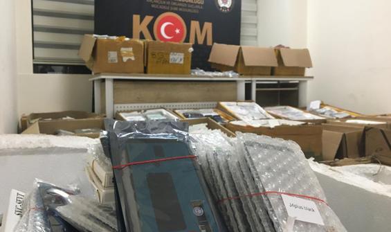 5 milyon liralık kaçak cep telefonu ele geçirildi