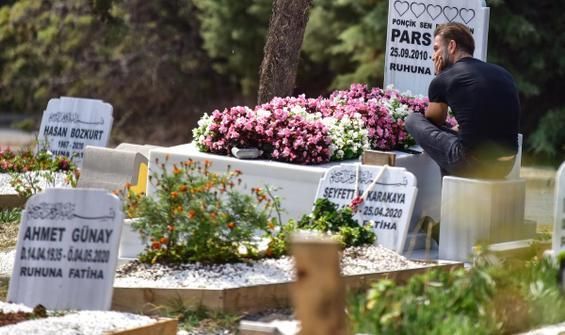 Harun Tan, oğlu Pars'ın mezarını ziyaret etti