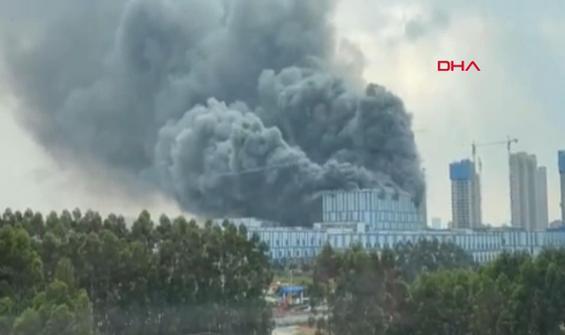 Huawei laboratuvarında korkutan yangın