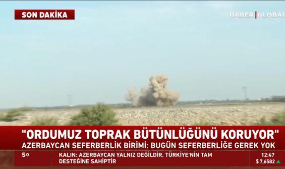 Azerbaycan sınırında çatışma anları kamerada