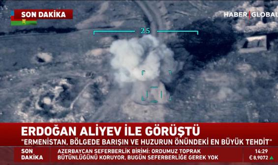 Ermenistan hedefleri böyle yok edildi! İşte ilk görüntüler