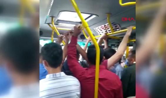 Tepki çeken minibüs yolculuğu