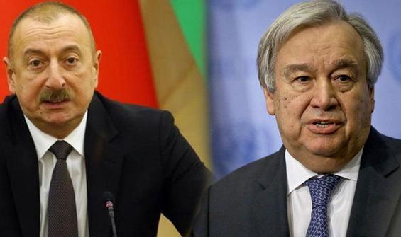 Aliyev'den Guterres'e net mesaj