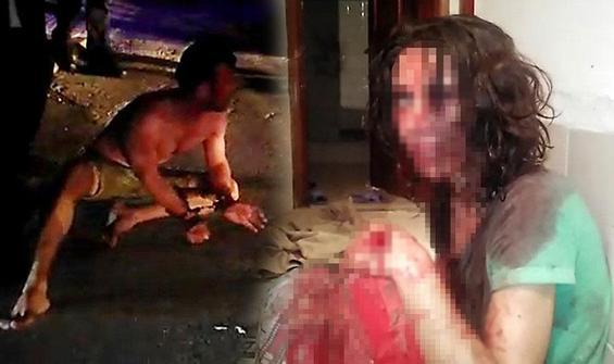 Cani koca eşini öldüresiye dövdü!