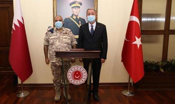 Bakan Akar, Katarlı mevkidaşı ile görüştü