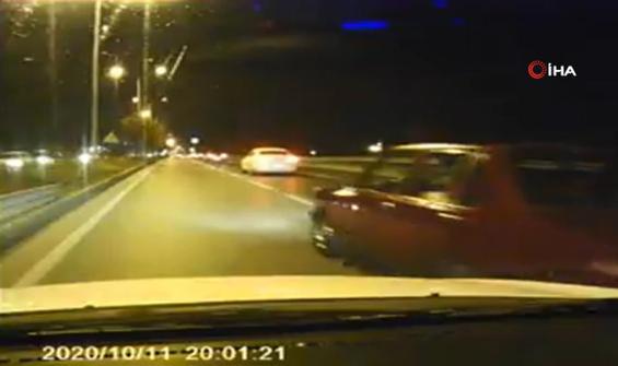 İnsan hayatını hiçe sayan trafik magandası kamerada