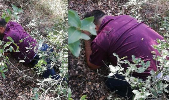 1 yıldır ormanlık alanlarda saklanıyordu, yakalandı!