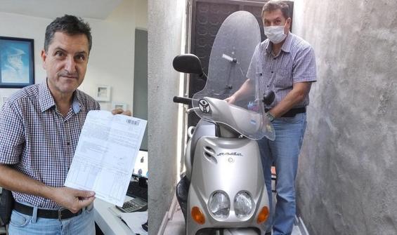 6 yıldır depoda duran motosiklete köprü geçiş ücreti!