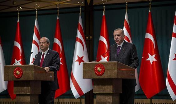 Cumhurbaşkanı Erdoğan'dan Ersin Tatar'a tebrik telefonu