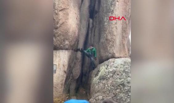 70 yaşındaki dağcı izleyenlerin nefesini kesti