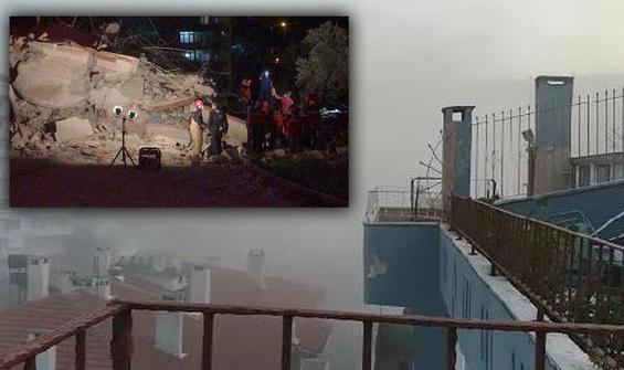 9 katlı bina, toprak kaymasında yıkıldı