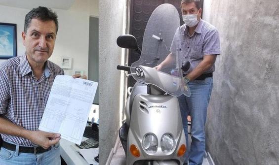 6 yıldır depoda duran motosiklete ceza kesilmişti