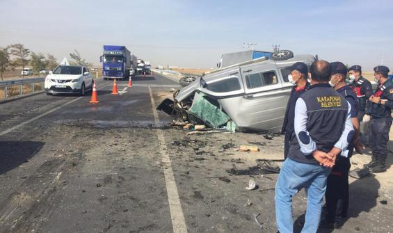 Konya'da feci kaza! 1 ölü, 7 yaralı