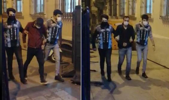 Beyoğlu'nda 'değnekçiler' yeniden gözaltında!