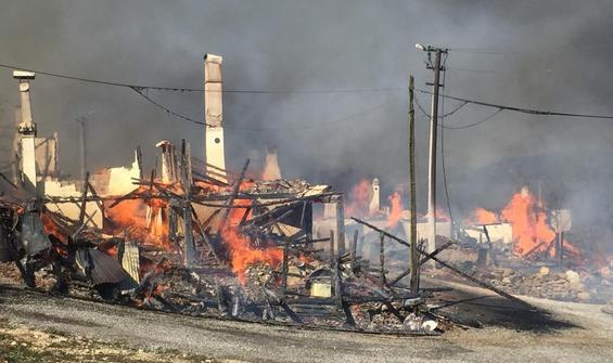Bolu'da feci yangın