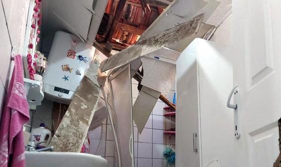 Çatıyı delip eve girdi!