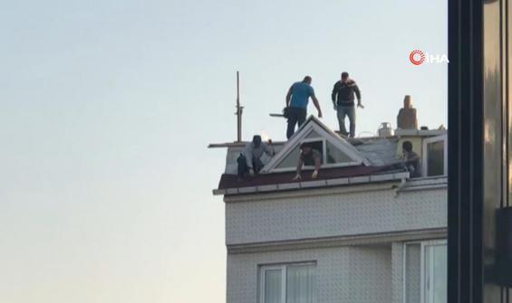 Yürekleri ağza getiren çatı tamiri