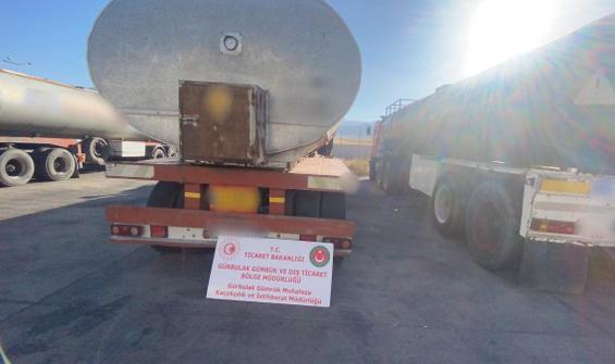 Gürbulak'ta 591 ton kaçak akaryakıt ele geçirildi