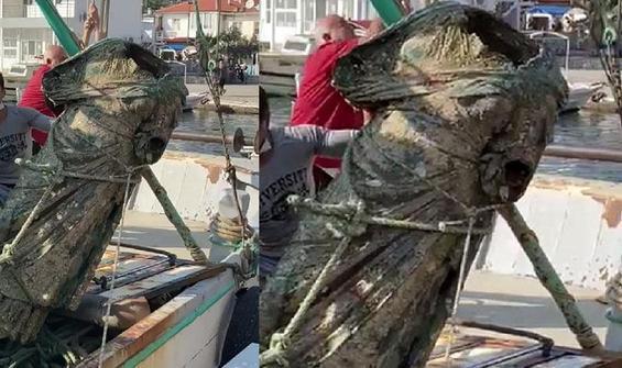 Balıkçıların ağına takıldı! Tam 2 metre uzunluğunda
