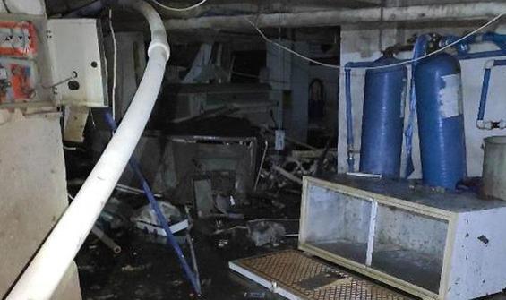 Dinlenme tesisinde su tankı patladı