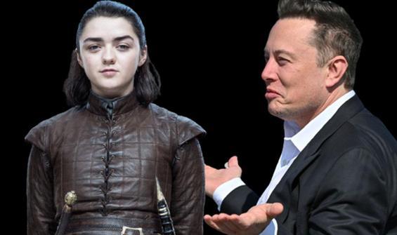 Arya Stark sordu, Elon Musk dizileri karıştırdı
