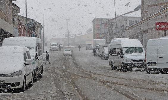 Sağanak ve kar yağışı uyarısı