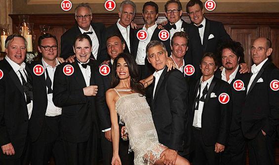 Clooney'in 1'er milyon dolar verdiği şanslı arkadaş grubu