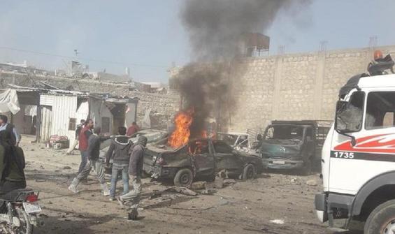 El Bab'da bomba yüklü araçla saldırı!