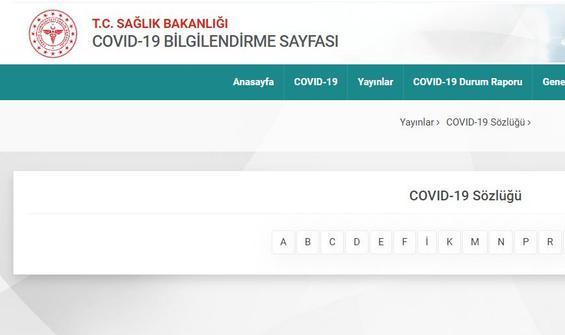 Sağlık Bakanlığı'ndan 'Covid-19' sözlüğü