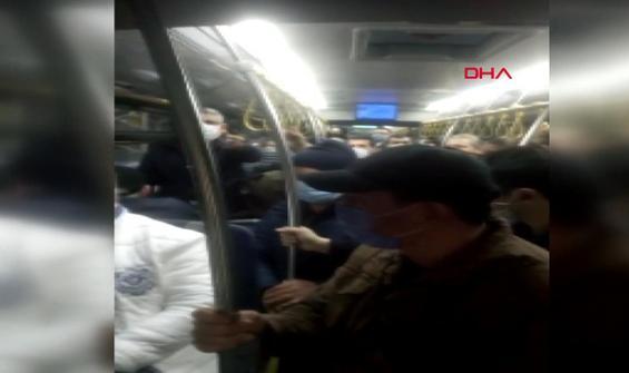Otobüste üst üste yolculuğu çeken vatandaşa tepki