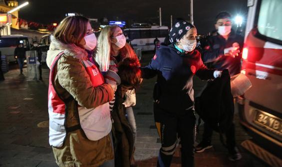 Taksim'de kadına şiddete karşı eylem! Arbede yaşandı