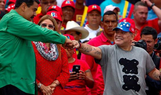 Maduro: Maradona ülkesi için özel şeyler yaptı