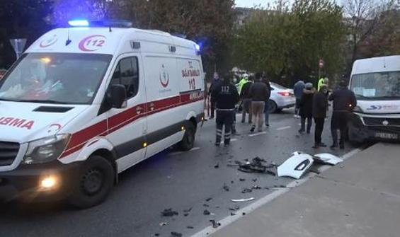 Beyoğlu'nda zincirleme kaza!