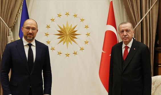 Erdoğan, Ukrayna Başbakanını kabul etti