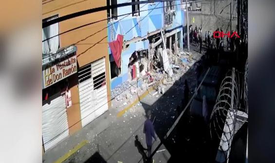 Restoranda yaşanan patlama anbean kamerada