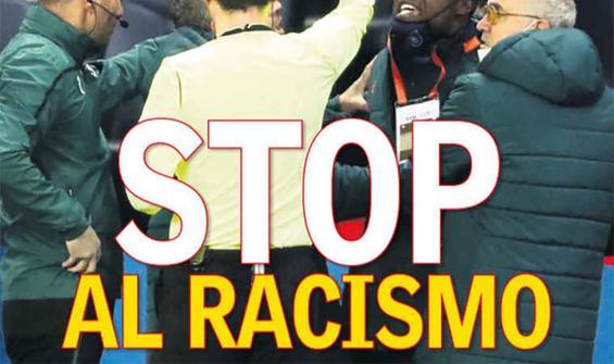 """İspanyol AS gazetesinden """"Irkçılığa hayır"""" manşeti"""
