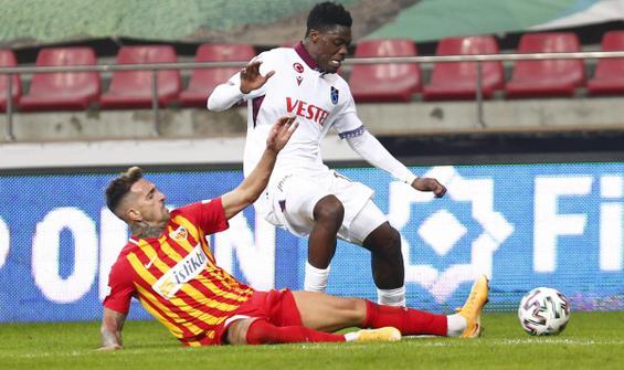Trabzonspor, Kayseri'de umduğunu bulamadı