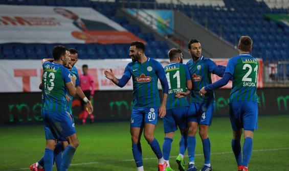 Çaykur Rizespor 3 puanı 2 golle aldı