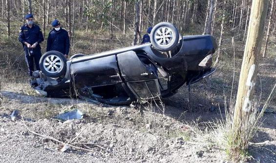 Jandarma aracı takla attı: 4 yaralı