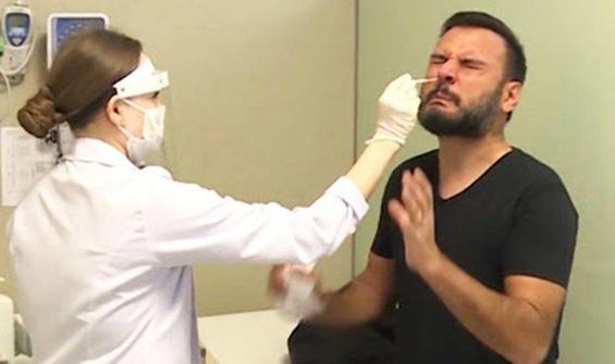 Canlı yayında aşı oldu!