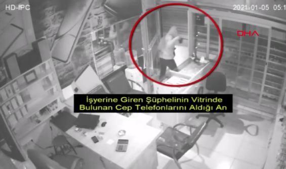 Cep telefonu hırsızlarını güvenlik kamerası ele verdi