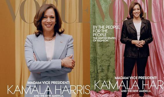 Ünlü moda dergisi Vogue'a Kamala Harris tepkisi