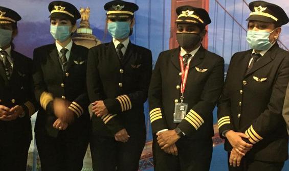 Kadın pilotlar havacılık tarihinde rekora imza attı