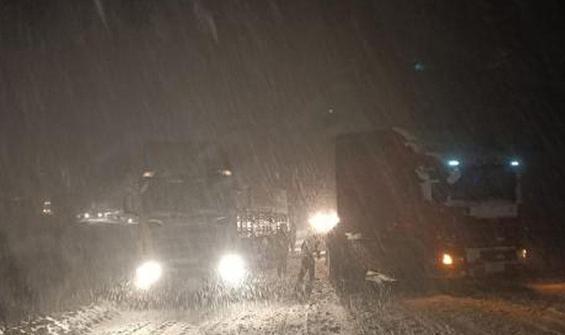 Tokat- Sivas karayolu kapatıldı!