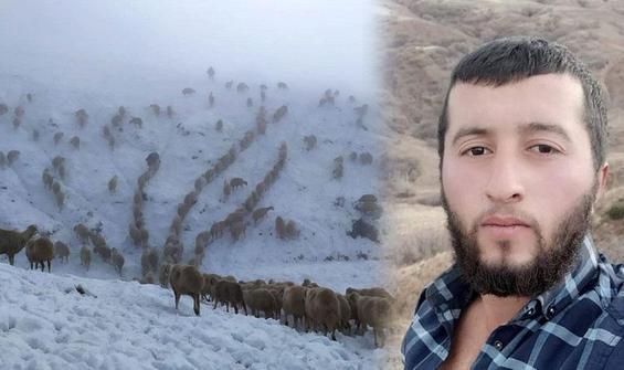 600 koyunla yaylada mahsur kaldı, 5 saatte köye ulaşabildi